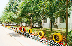 河南汽修学校,校园一角